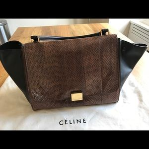 Celine Medium Python Trapeze Bag